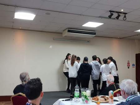 Students from the Greek School perform